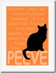 Peeve artwork white frame