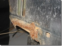 Better picture of rust area on radiator core support