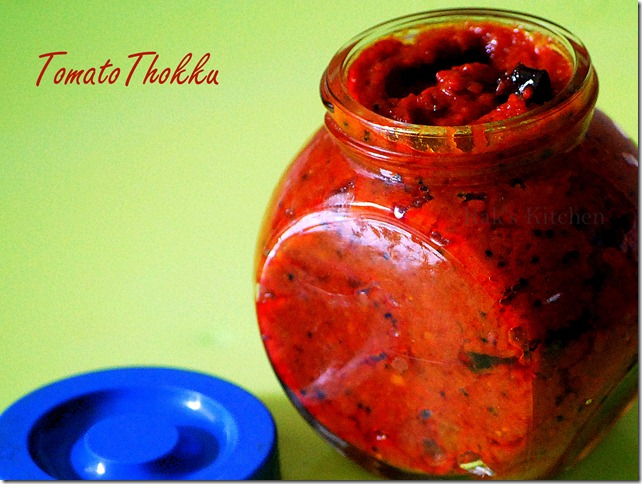 Tomato Thokku...in container