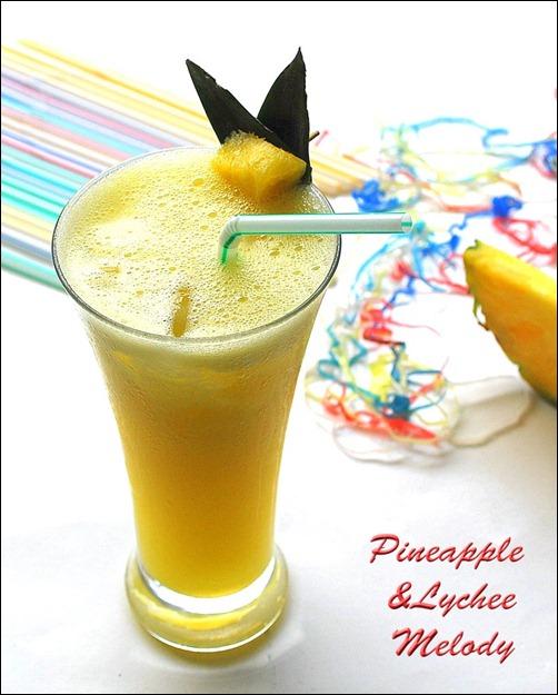 Pineapple lychee drink