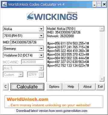 Unlock all Phones World-Unlock-Code-Calculator