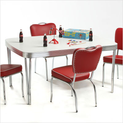 classic retro dinettes retro dining table in bright chrome 1 jpg