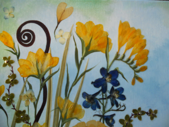 Bouquet painting preservation by Curly Art