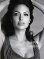 Angelina Jolie Harper's Bazaar B&W1