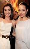 Actresses Anne Hathaway and Angelina Jolie during VH1's 14th Ann