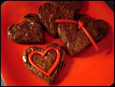 heart-brownies