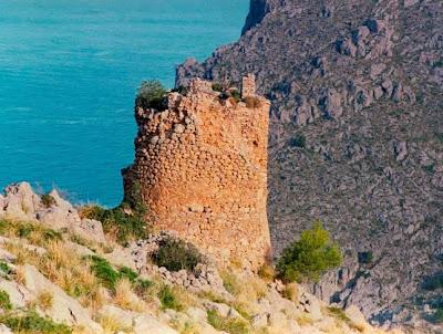 Torre de defensa del Cap de Cala Figuera, un lugar marcado en el mapa de yacimientos subacuáticos