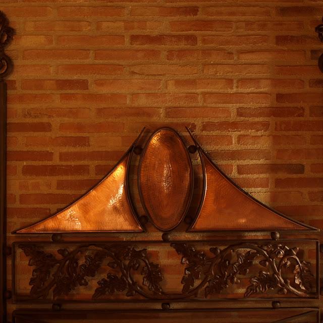 Cabecero artesanal(cobre y forja)