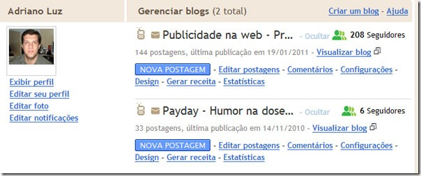 tela blogger