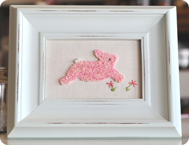 Punch needle bunny for blog