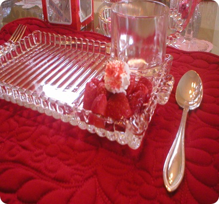 Valentines day strawberries with wc