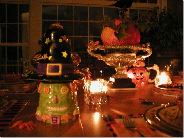 Halloween Birthday, face & centerpiece