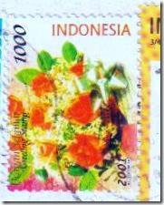 Indonesia flower stamps