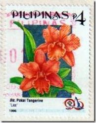 Philippine flower on stamp