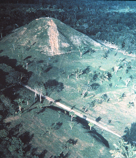 Mexico, Olmec culture, c. 1000-6000 BCE. Pyramid height approx. 100' (30m)