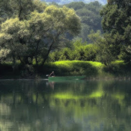 Drina, Velika Reka... by Olivera Prelevic Tanasic - Digital Art Places