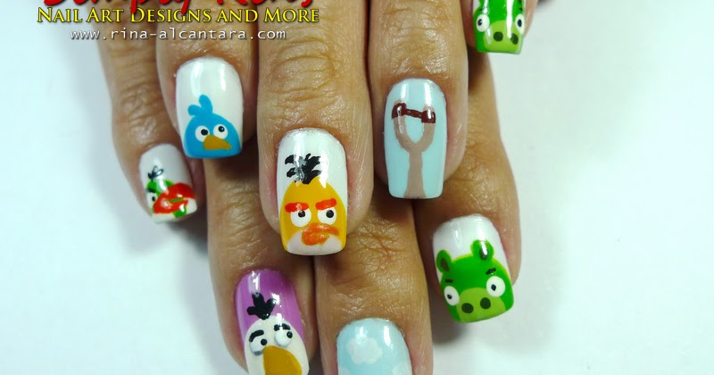 Nail Art: Angry Birds | Simply Rins