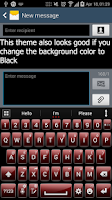 Screenshot of Ai.type MetalGlass Red Theme
