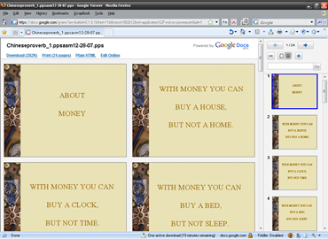 Gmail Powerpoint view