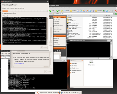 Portable Ubuntu : Running update wizard