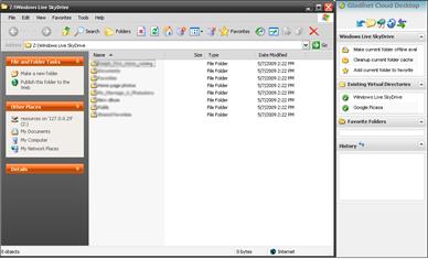 Gladinet Cloud Desktop: Windows Live Skydrive Mount