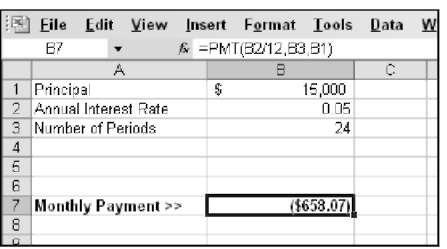 calculating loan payments and interest rates in excel