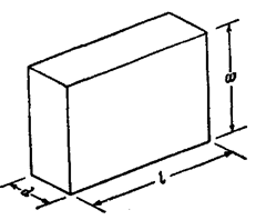 Rectangular slip gauge