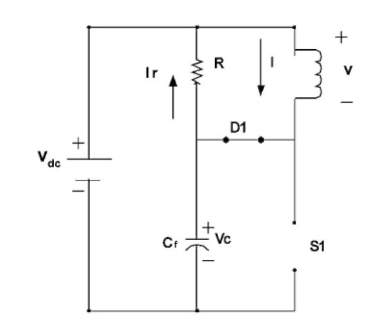 Equivalent circuit when S1 is off.