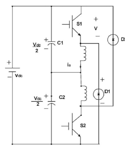 SRM driver with split-DC converter