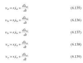 In the following equations, the L terms include both the leakage and magnetizing inductances, and the M terms are mutual inductance terms.