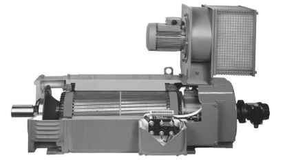 High performance force-ventilated d.c. motor.