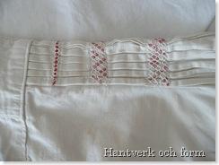 Den äldre skjortans ärm med daldersöm