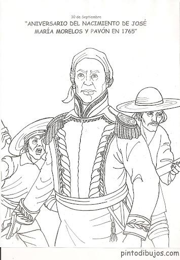 José María Morelos y Pavón Coloring pages, Mexican Heroes