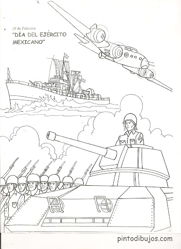 Army Day coloring pages