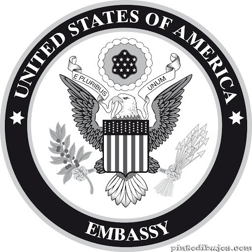 Coat of arms of the United States Embassy, coloring pages
