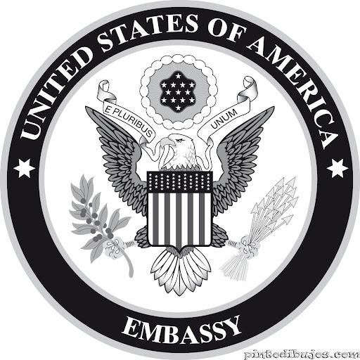 Escudo de la Embajada de Estados Unidos para colorear