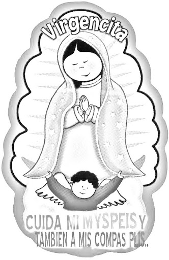 Virgin of guadalupe coloring pages