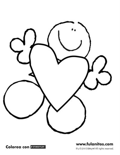 Fulanitos Heart   Coloring Pages