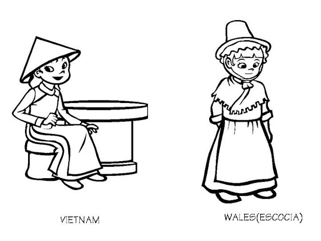 Free welsh lady coloring pages for Vietnam coloring pages