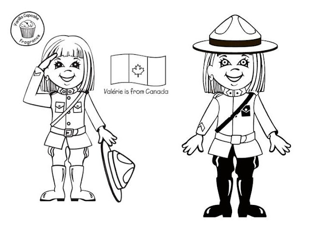 Costume of Canadian, free coloring pages