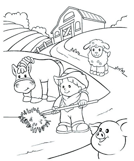 Rural Community Coloring Pages