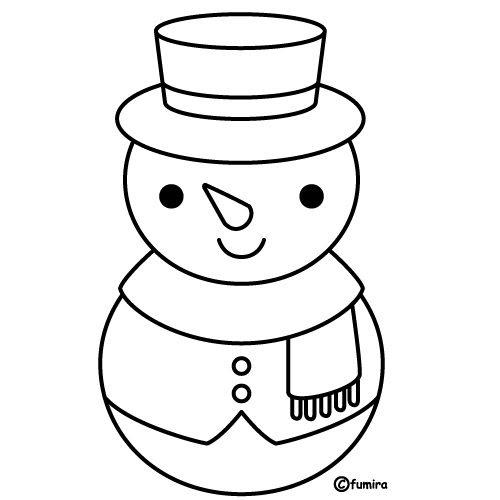 pinto dibujos  mono de nieve para colorear