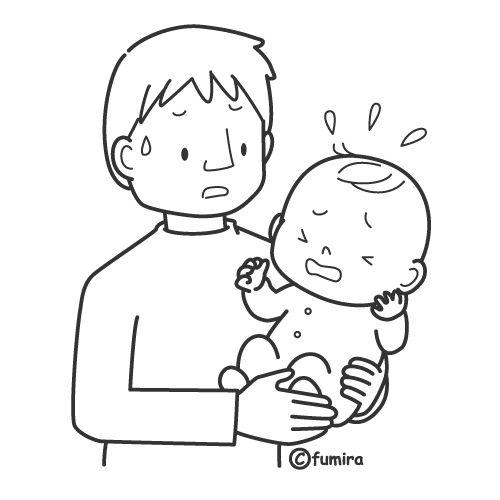 Bebé llorando para colorear