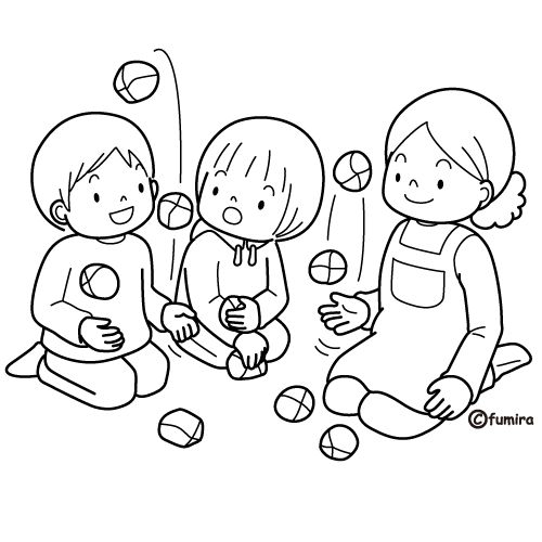 Playing with balls, free coloring pages | Coloring Pages
