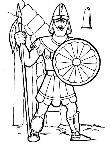 Gladiador romano para colorear