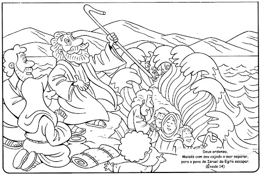 Grandma Moses Coloring Pages Moses Crossing The Sea Free