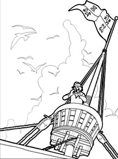 Rodrigo de Triana - free coloring pages