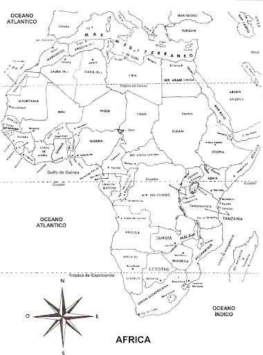 africa map coloring pages - photo#23