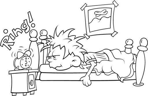 Dibujos de niños durmiendo para colorear - Imagui