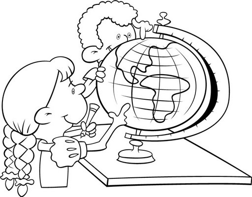 globe - free coloring pages | Coloring Pages